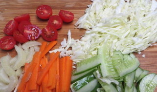 Coleslaw with Soy Sauce Dressing Step1