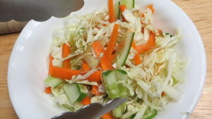 Coleslaw with Soy Sauce Dressing Step3