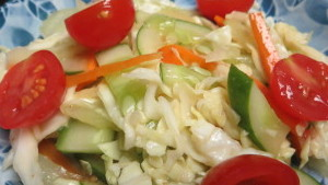 Coleslaw with Soy Sauce Dressing