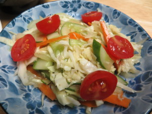 coleslaw with soy sauce dressing image