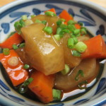 Boiled Daikon with savory sauce