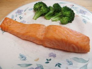 grilled salted salmon