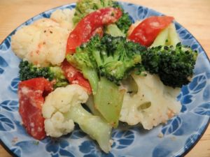 Intestinal flora broccoli cauliflower warm salad