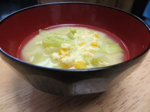500 calories set meal egg drop vinegar soup