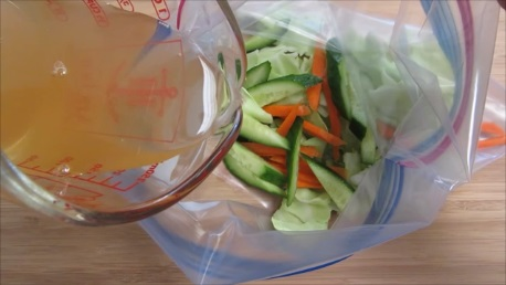fresh pickled vegetables step 3