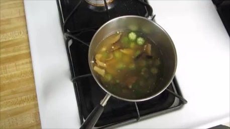 okra egg drop soup step (2)