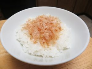 low sodium cooking okaka gohan steamed rice bonito flake